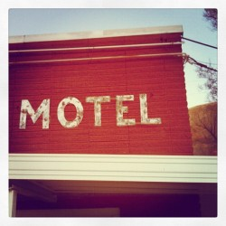 The only #neonsign this place had. No other #sign. Just Motel. #type #typography #vintage #retro #signporn