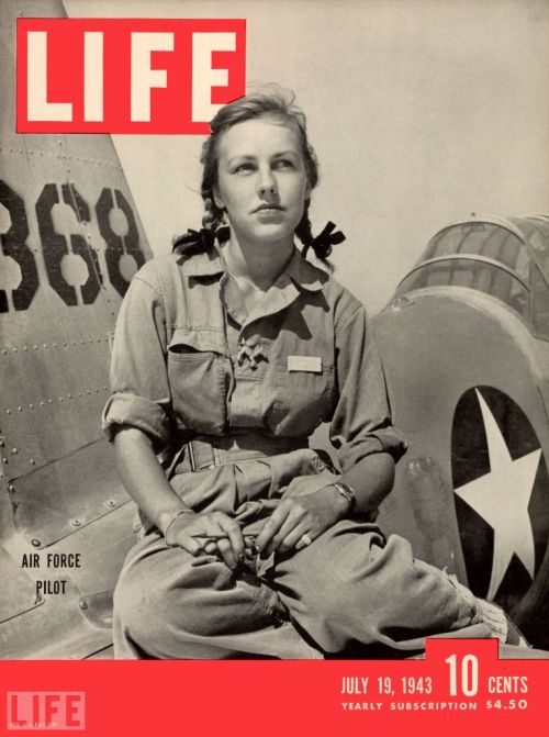 The Badass of the Day is Pilot Trainee Shirley Slade [1943]…  …as she sits on the wing of her Army trainer at Avenger Field in Sweetwater, Texas. In September of that year, Slade graduated as part of the Women Airforce Service Pilots Class 43-5 (also known as WASPs).   Far from passive witnesses to — or victims of — the fighting in World War II, women took an active role in the war effort from the very start of the conflict. (see more — WWII: Women in the Fight)