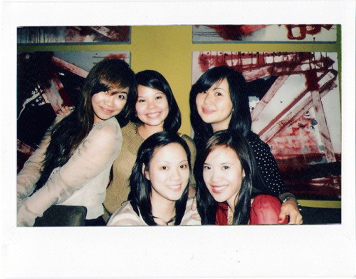 Christmas get-together with my college blockmates. Taken with a Polaroid Instax Wide (!)