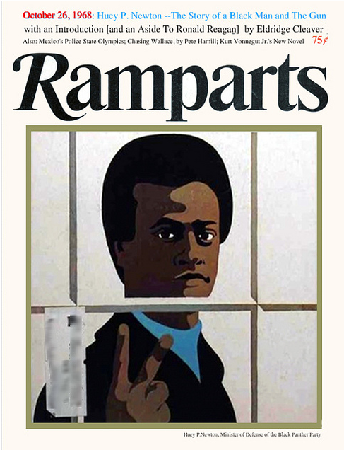 Ramparts, October 26, 1968Illustration and art direction: Dugald Stermer Source: Idaho Bert