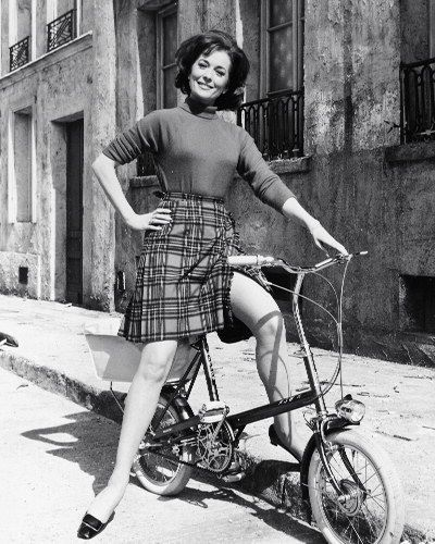 Barbara Shelley rides a bike.