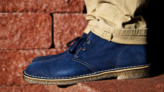 Clarks Originals Desert Boot Blue Cotton by Kacper Borowiec | kb photo on Flickr.