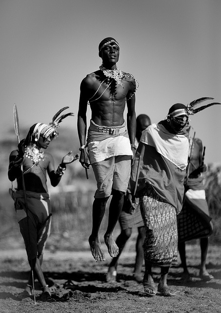 Masai Warriors dancing…