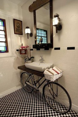 Bicycle sink basin. #HomeDecor
