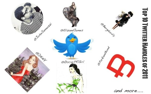 morpheusmedia Stylecaster names their Top 10 Twitter Handles of 2011 - including @Bergdorfs and @DKNY!