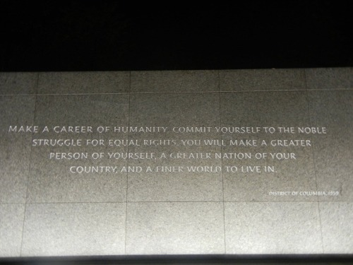 - Martin Luther King Jr.  (photo courtesy of John Beaton)