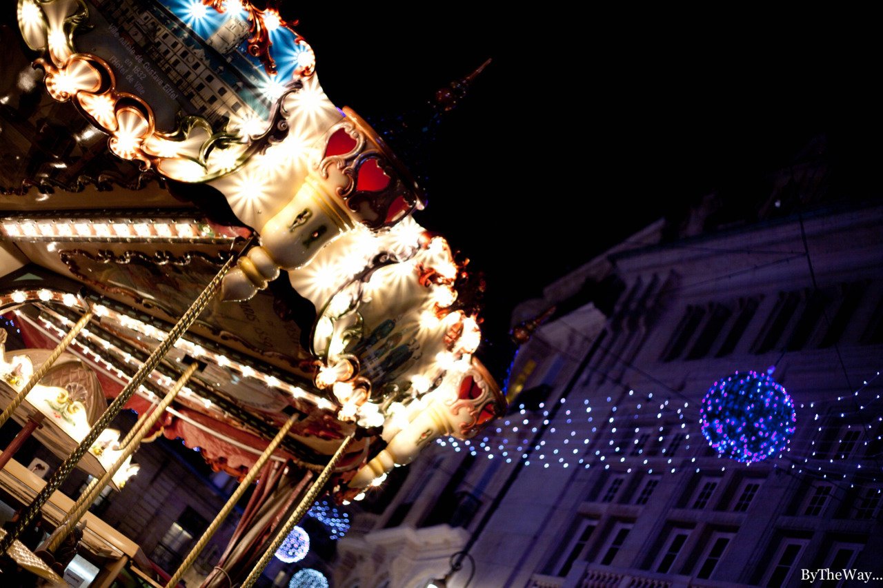 Merry-go-round - Christmas time in Dijon, Burgundy - France