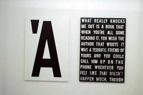 Gergely Szőke's first solo show 'A' Quote from J.D. Salinger's The Catcher in the Rye (1951)