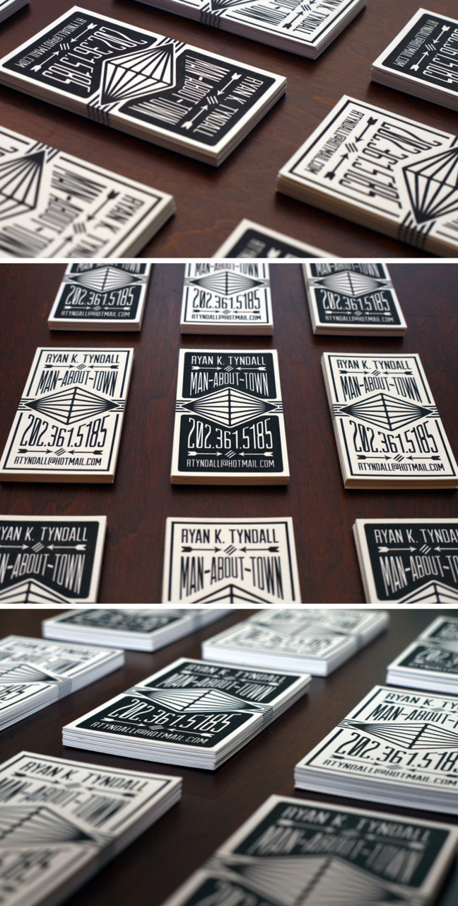(via Letterpress Calling Cards - Business Cards - Creattica)