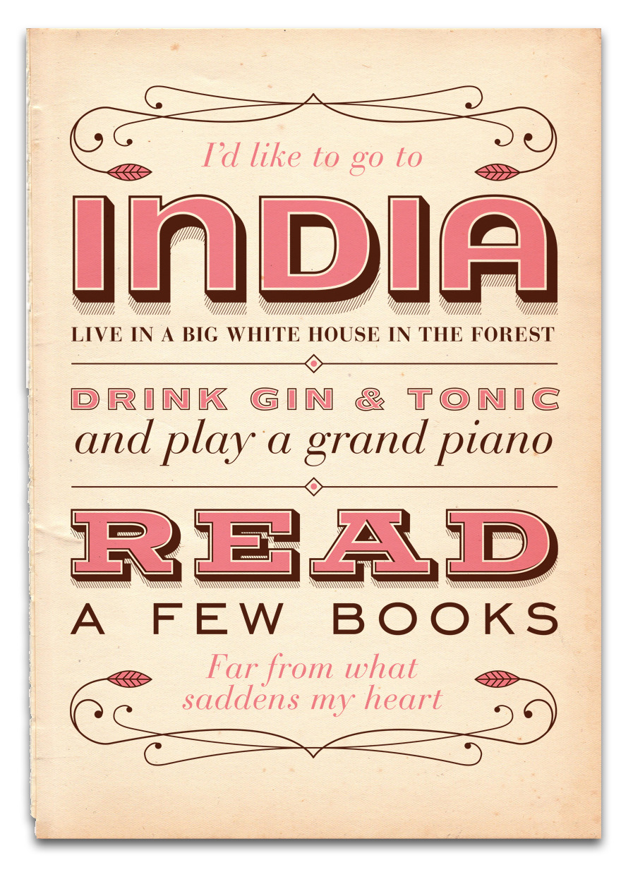 (via India Song Screenprint - Posters - Creattica)
