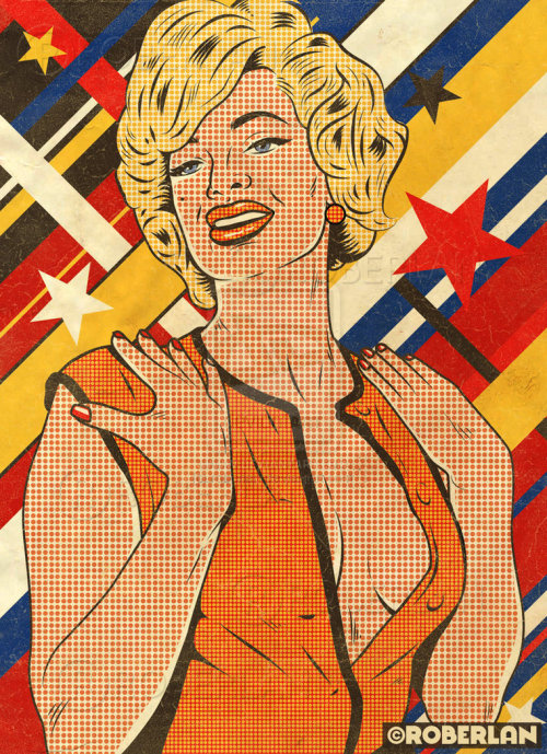 Pop Art Retro Model by *roberlan