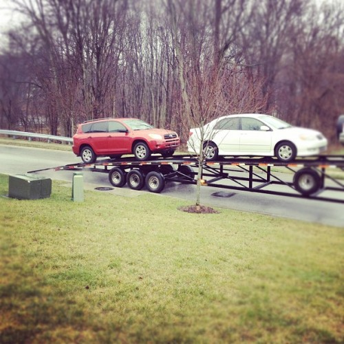 Car is being shipped (Taken with instagram)