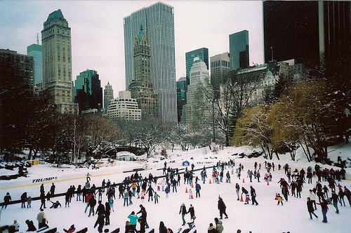 new york ice skating.