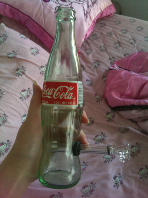 My beautiful new coke bottle bong from my best friend :)