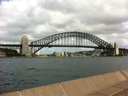 The Sydney Bridge we climbed this morning, all the way to the top!