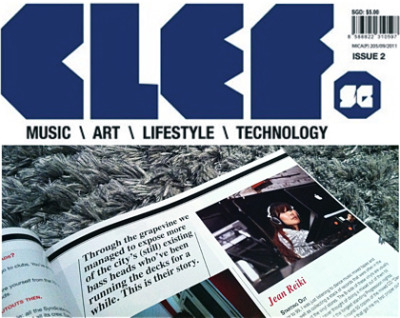 Shared my story as a bass head in the second edition of the CLEF.SG magazine. As always, it's good to see publication delivering content on local music-makers, creative individuals and events. From tracing the rise of Singapore Bass music movement to featuring regional bands /performers, this is another issue that does not disappoint!