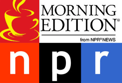 I'll be featured on NPR's Morning Edition tomorrow morning (12/28) at between 6:20-6:30am EST, then again at 8:20 & 10:20!  Please tune in and spread the word if you can: http://www.npr.org/programs/morning-edition/