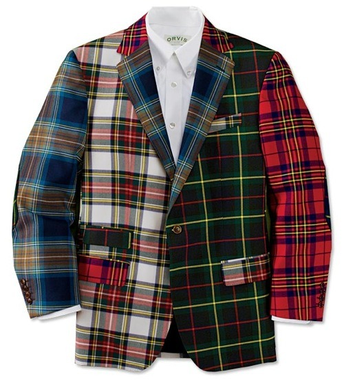 Orvis Mens Plaid Sportcoat