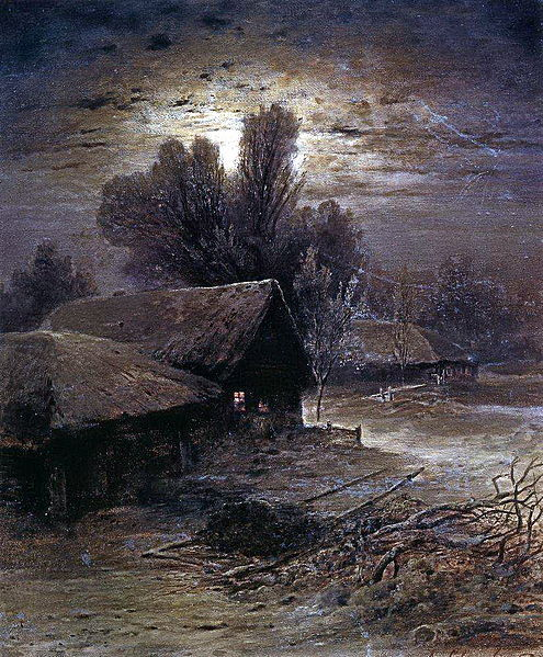 thorsteinulf:  Alexei Savrasov - Winter Night (1869)