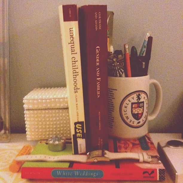 My desk.  (Taken with instagram )