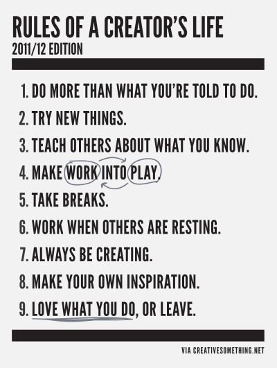 10 Rules I Shall Follow from here out.