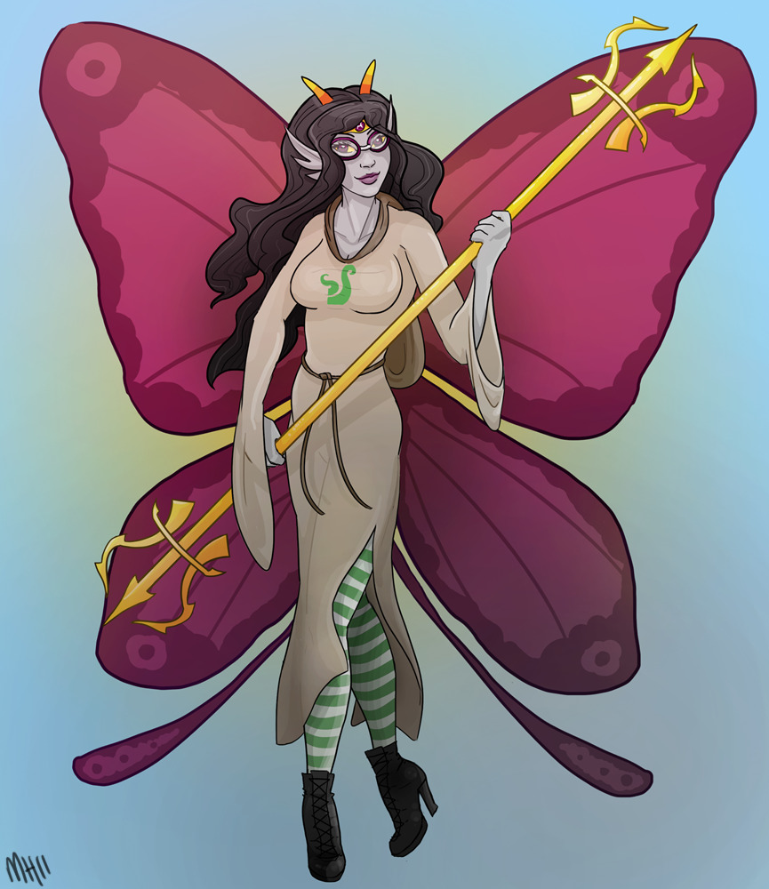 I haven't seen any godtier Feferi since her symbol/colours were released, so I gave it a shot myself since I have to go to work tomorrow and am avoiding doing anything productive at all