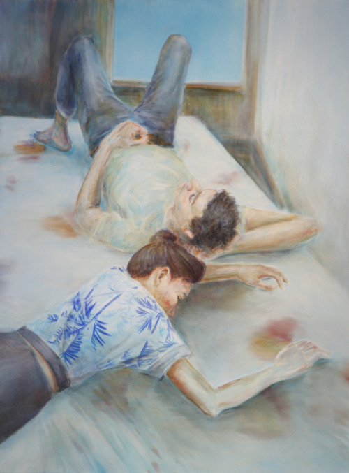 Bed Near Window.  oil on canvas, 3' X 4' © Sara Maston 2011