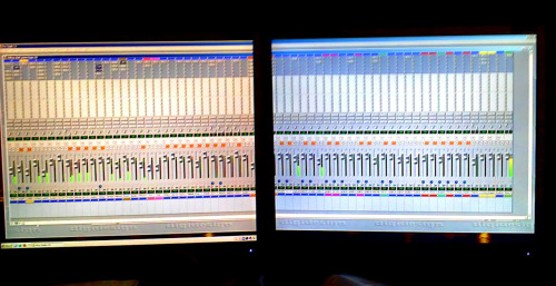 this is what i look at mixing this song …. using protools to track the mpc and record vocals and cuts.