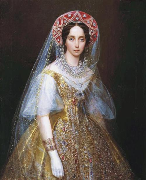 Portrait of Maria Alexanderovna by Ivan Makarov, date missing (1850's-60's?) Russia