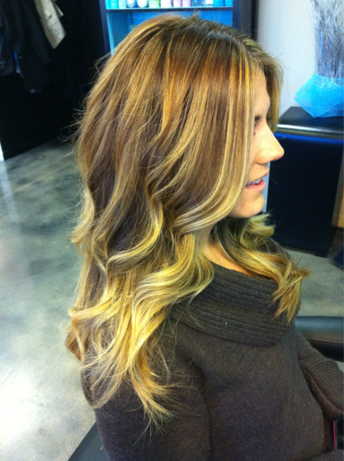 An example of how amazing ombré looks over time.. We've been doing ombré on Maliah for a few months now and it's my fav color on her!