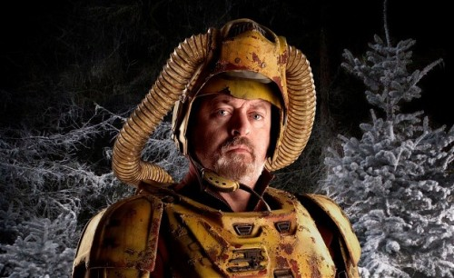 "doctorwho:  Doctor Who Christmas special: Bill Bailey interview ""When I arrived at the set, it was quite breathtaking. This beautiful forest, decked out in snow – it looked amazing. And then us as forest space farmers clanging around, it was such fun. It was a juxtaposition of all that is the essence of Doctor Who for me."""