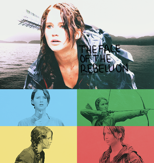 lawrencess:  katniss everdeen - the face of the rebellion.