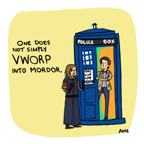 usbrostalservice:  Brittany asks for Boromir + Doctor Who, Brittany gets Boromir + Doctor Who.