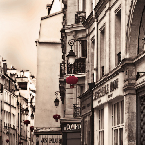 Rita Crane Photography: France / Paris / Le Marais / street / buildings / rooftops / chimneys / Rue du Temple, Marais District, Paris by Rita Crane Photography on Flickr.