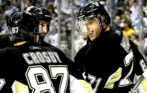 Sidney Crosby, Evgeni Malkin, and Brooks Orpik (Somewhere there lol)