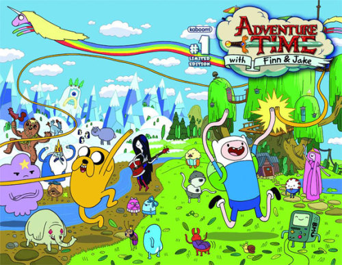 "comicsalliance:  Ryan North Talks 'Adventure Time' Comic: ""The Zombies Represent Friendship"" [Interview] By Laura Hudson To say that we here at ComicsAlliance are fans of Cartoon Network's Adventure Time is understating things almost as much as saying that we're fans of Dinosaur Comics creator Ryan North. They're like chocolate and peanut butter for us, which is why were were all thrilled at the announcement that North would be writing the all-new Adventure Time comic that's coming out in February from Boom! Studios. That's why today, we've sat down with North for an interview about his first foray into writing a licensed comic, whether or not he's going to adapt his signature Dinosaur Comics style to the adventures of Finn and Jake, and how friendship is like a zombie outbreak. ComicsAlliance: How did they approach you to write for the Adventure Time comic? It seems like the creators of the show follow at least a few webcomics — there was an episode where the Ice King hid inside an animated version of Kate Beaton's Fat Pony — so were they already fans of your work?Ryan North: Yep! The editors knew me through Dinosaur Comics and floated the idea of me writing the comic to [Adventure Time creator] Pen Ward, and he said ""sounds great!"" (actually I don't know his words so I can only ASSUME he said something equally enthusiastic) and then here we are! Pen is a great guy and a lot of us know him already, so it's easy and fun to make things work out like this.CA: How did you know the editors that you were interested in writing the comic? Were you already a fan of the show?RN: I don't know how they came up with my name, but I hope it was because they thought it would be TOTALLY SWEET PAIRING? I was already a fan of Adventure Time from way back when the pilot short was released on YouTube, yeah! That was super convenient, because it made a) knowing the characters I was agreeing to write for easy and b) the whole project super exciting for me. If it were any other show I'd probably say no just because I'd have to watch days of television to catch up and know what's going on, but come on, Adventure Time? I am ALL OVER that. Read more of this interview at ComicsAlliance."