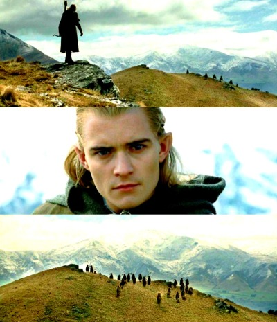 Oh, i'm very much in love with Legolas back in grade school. i still like him though, i remember watching the two towers over and over again and memorizing his lines. he's my first love. and he will always be. (: