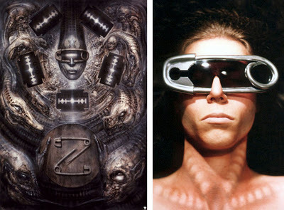 H.R. Giger-inspired sunglasses by Doktor A.