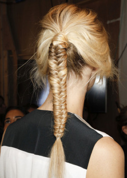 encantamoda:  vvolfa:  ne-uw:  Fish tail braids are always so perf xx  not when i do them  mixed blog omg lOL xxooxox