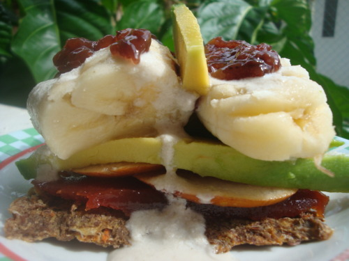 Raw banana sandwich