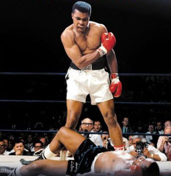 The famous Ali knockout shot.