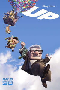 10 Great Movies - Up (2009)  I was hiding under your porch because I love you.  Pixar really outdid themselves with Up. It's a bizarre concept, that's for sure! An old man (Carl, played perfectly by Ed Asner) attaches a bunch of balloons to his house to transport it to South America to fulfill a promise to his late wife. Accompanying him on this journey is an enthusiastic but clumsy Wilderness Explorer (Boy Scout) and a dog named Dug who can and does talk. It seems nutty, and it is. But it's also charming, hilarious, heartbreaking, wonderful, and heartwarming all at the same time. The first segment of the movie is a short flashback which covers a lot of time: the majority of Carl's life up until the events of the movie, specifically his relationship with Ellie, his late wife. The first portion of the flashback covers the time when they first met when they were very young; they both shared an enthusiasm for adventure. The second portion is an accelerated depiction of their courtship and married life, which is presented without dialogue. At the end of this segment, I was weeping. The movie had barely even started! I was in tears again by the end. In between, I had laughed a lot, smiled a lot, gasped a lot, among many other things. We love to feel emotion! That is what makes Up (and most other Pixar films [not Cars]) so good. They evoke so many different emotions in us all because of their ability to relate the most outlandish characters to anyone. Anyone can see a little bit of themselves in a Pixar film, and Up is certainly no exception.