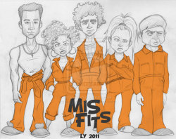lifeofatokophobic:  ny1chi:  Misfits-the show not the band by ~leighyoung my favorite show !!  Haha nice.  (8) THE PRICE IS WHAT (8) *bass riff thing*