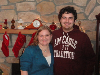 Zachary and I back in my home town for Christmas <3