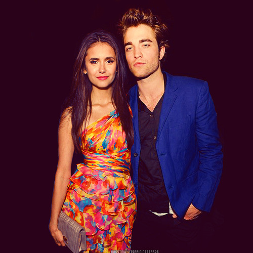 itsrainingbeards:  ~Nina Dobrev and Robert Pattinson.                    -requested by candykizzes24