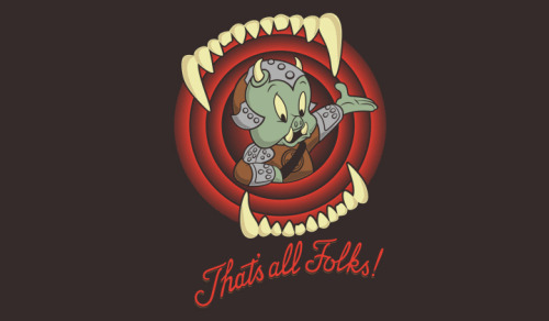"ShirtPunch: ""That's All Folks!"" by Fanboy30."