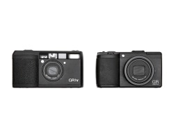 a quick size comparison between by two favorite film and digital pocket cameras.