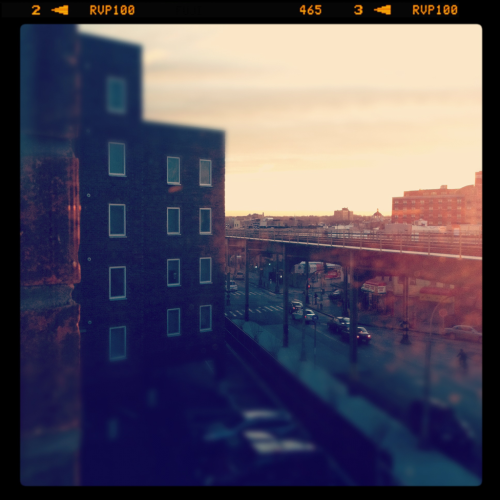 Sitting in my window sill, cup of tea in hand, watching the Brooklyn sunrise while listening to The Temper Trap… I am so happy today.