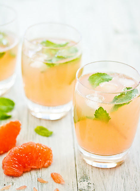 Grapefruit & Mint Cooler by Sips and Spoonfuls