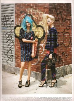 Lindsey Wixson & Daphne Groeneveld by Alasdair McLellan for W